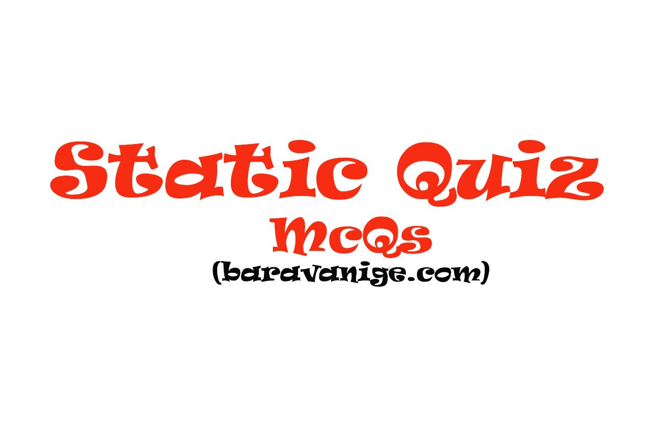 Static Quiz Series - 29 ( Environment) - Baravanige